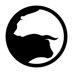 bear and bull vector logo. icon vector.