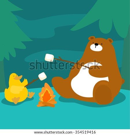 bear and duck grill marshmallow