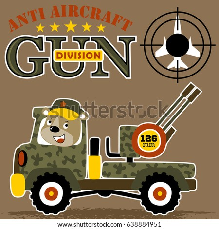bear army drive an armored