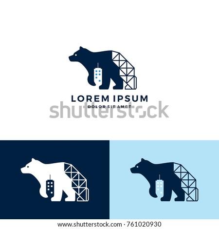 bear building construction logo