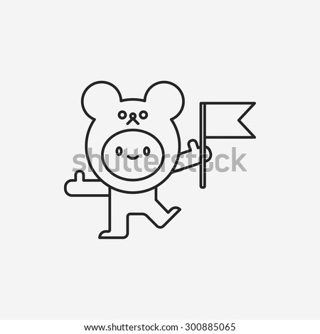 bear costume line icon
