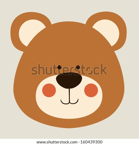 bear design over beige