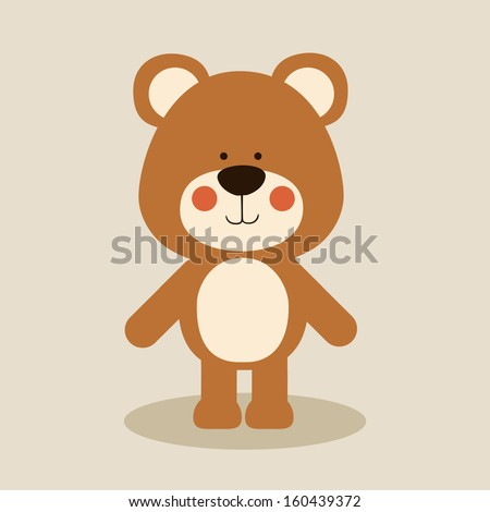 bear design over beige