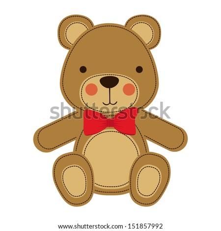 bear design over white