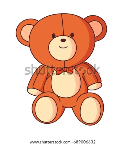 bear doll cartoon vector
