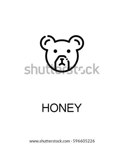 bear flat icon single high