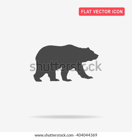 bear icon vector concept