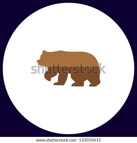 bear icon vector flat simple