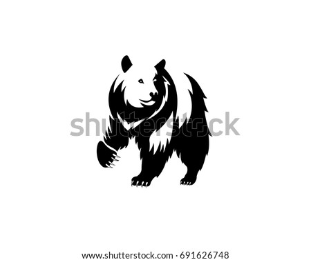 bear icon  wild animal  emblem