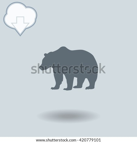 bear icon with shadow cloud of