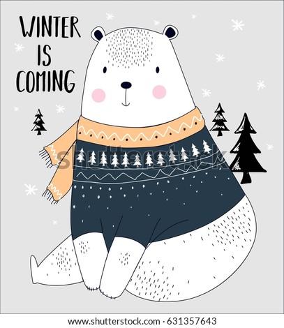 bear illustration vector for