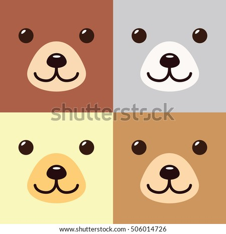 bear kawaii cartoon in