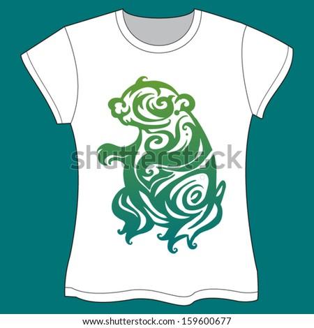 Bear llustration  - T-shirt Template