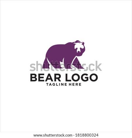 bear logo design icon