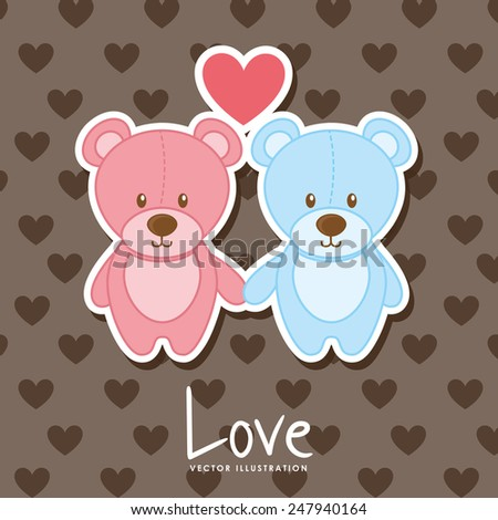 bear love design  vector