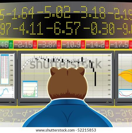 bear market(vector, CMYK)