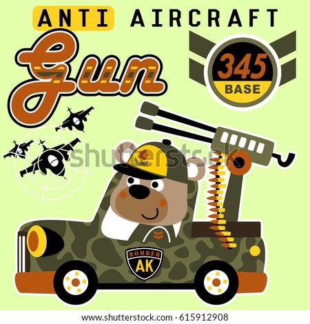 bear on anti aircraft gun