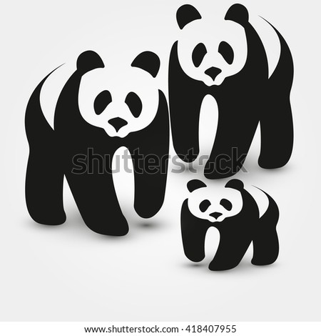 bear panda bear cartoon vector