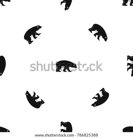 bear pattern repeat seamless in