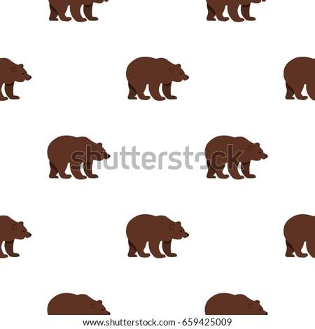 bear pattern seamless flat