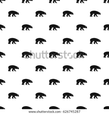 bear pattern seamless in simple