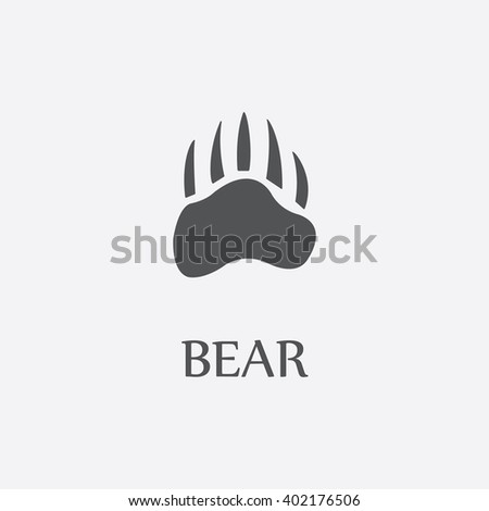 bear paw bear paw vector bear
