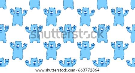 bear polar bear angry seamless