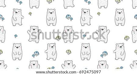 bear polar bear mushroom
