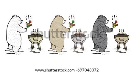 bear polar bear picnic camping