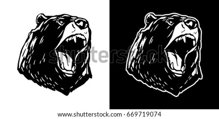 bear polar bear scream vector