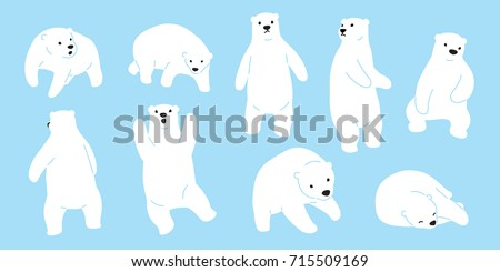 Bear polar bear teddy icon doodle illustration vector cartoon