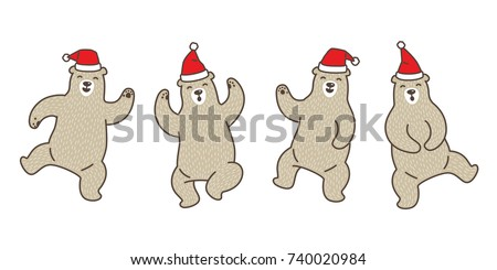bear polar dance christmas