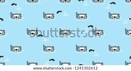 bear seamless pattern vector