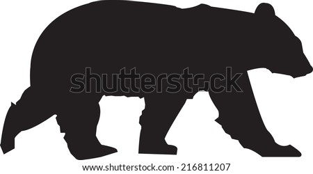 stock-vector-bear-silhouette
