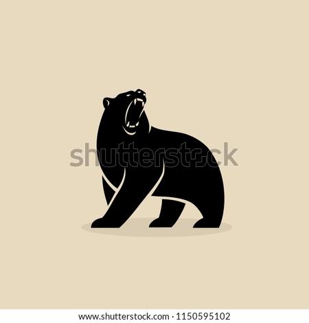 bear symbol   isolated vector