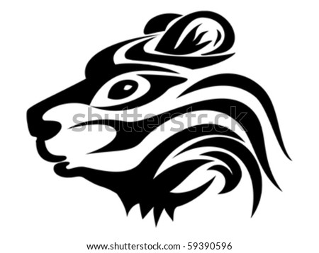 stock vector : bear tattoo vector isolated on white background