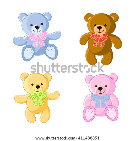 bear  toy colorful collection