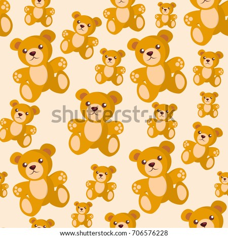 stock-vector-bear-toy-seamless-pattern-kid-cartoon-background-and-child-decoration-tracery-tile-for-wallpaper