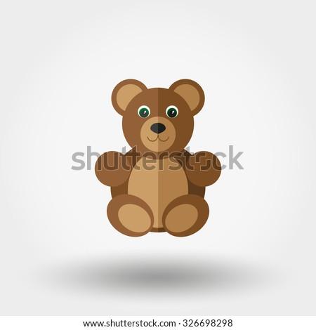 bear toy vector illustration