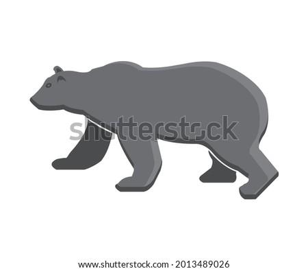 bear vector standing logo