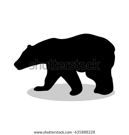 bear wild black silhouette