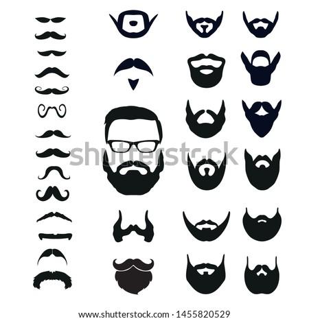 beard collection for men illustrator vector file