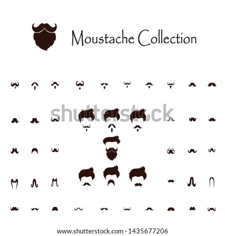 Beard collection,mustaches collection,vector illustration design