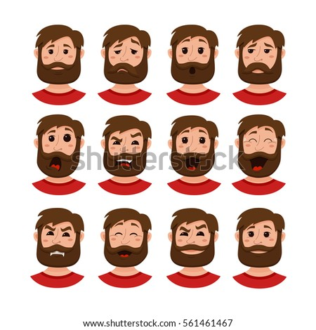 beard men facial expression