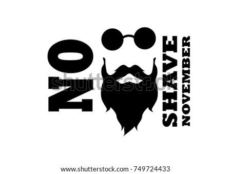 beard  mustache and glasses...