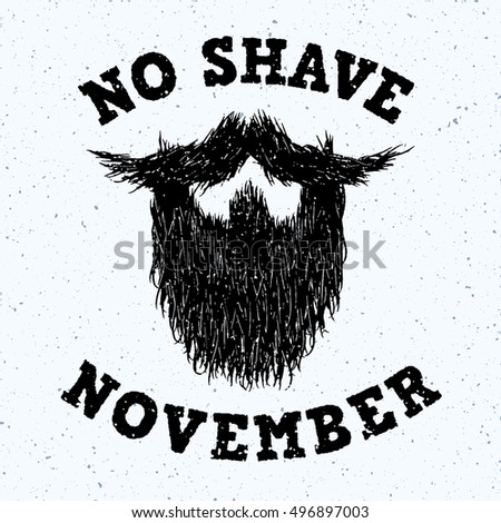 beard silhouette with no shave...