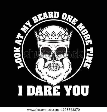 beard t shirt design with
