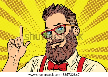 bearded hipster man portrait...