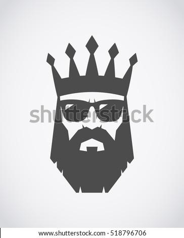 bearded king wearing sunglasses
