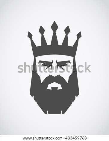 bearded king with a crown on